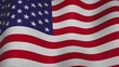 Usa waving background flag means freedom and nation - seamless video loop