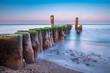 Buhne an der Küste der Ostsee bei Graal Müritz