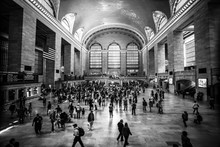 Hall Of Railway Station At Busy Hour