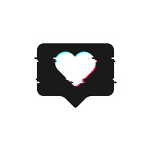 Like Glitch In Modern Style. Social Media Concept. Isolated Flat Vector