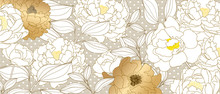 Luxury Gold Floral Line Arts B...