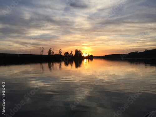 Scenic View Of Lake Against Sky During Sunset #348829305