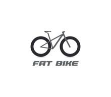 Black Fat Mountain Bike Silhou...