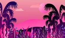 Futuristic Tropical Landscape ...