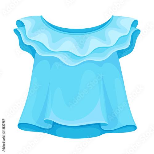 Sweatshirt or Blouse with Short Sleeve for Girls Vector Illustration Fototapet