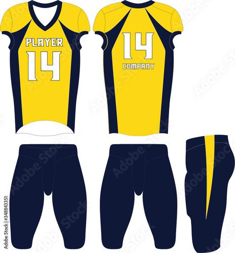 Fotografering American football uniforms Custom Design Illustration Vector