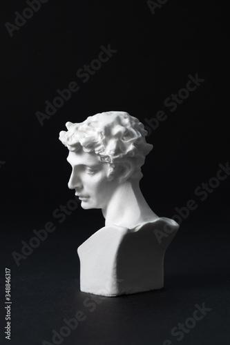 Fotografie, Obraz David plaster in a black background