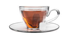 Cup Of Black Tea Isolated On W...