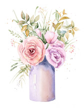Bouquet Of Flowers In A Vase, ...