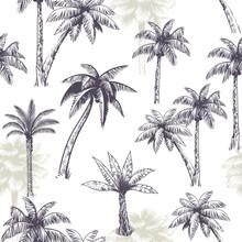 Palm Tree Seamless Pattern. Be...