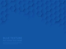 Hexagonal Texture. Ocean Blue ...