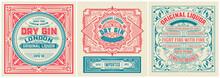Set Of 3 Vintage Labels. Vector Layered