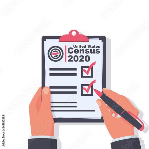 Fototapeta Census 2020