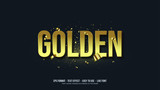 Gold Writing Illustrations Vector Text Effect