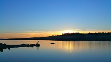 Scenic View Of Folsom Lake During Sunset
