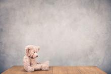 Retro Teddy Bear Toy Sitting A...