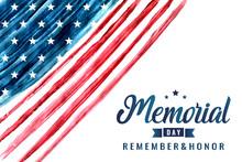 Memorial Day Card Or Backgroun...