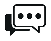 Chat Icon Vector On White Back...