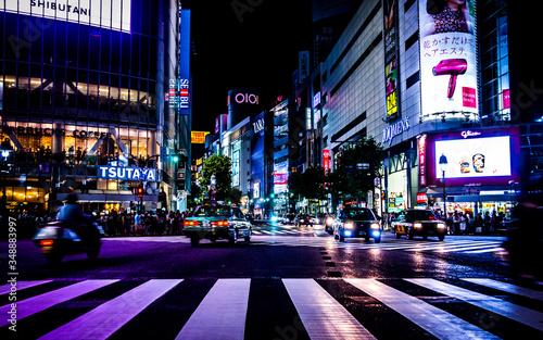 Canvas Print City Street At Night