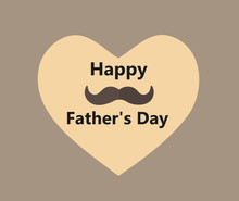 Happy Father's Day Heart Postc...