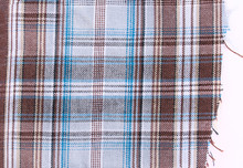 Checkered Fabric With Blue And...