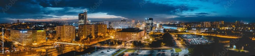 Fototapeta Katowice - Panorama - obraz na płótnie