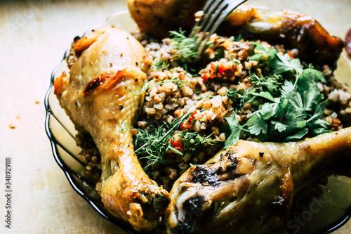 Chicken with buckwheat porridge © Валерій Діденко
