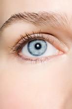 Close-up Blue Eye Natural