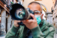 Professional Photographer Working In Pandemic Period