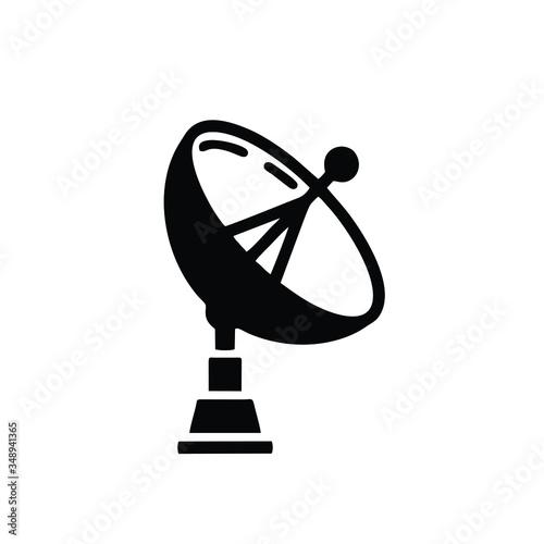 satellite dish icon Canvas Print