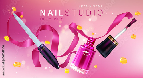Cuadros en Lienzo Manicure studio brand poster