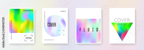 Holographic cover set. Abstract backgrounds. Fototapet
