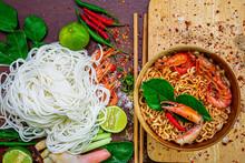 Tom Yum Kung Shrimp Soup And H...