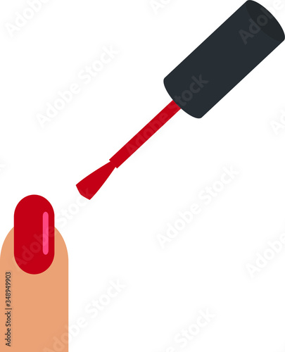 Photo Nail polish bottle vector icon, manicure, fingernail