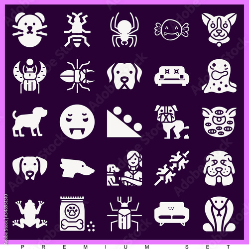 Photo Set of 25 anomaly filled icons