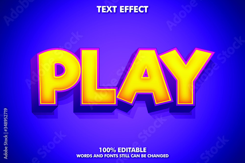Play Word Powerful GameText Effect - 348952719