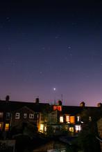 Beautiful Night Sky Behind Row...