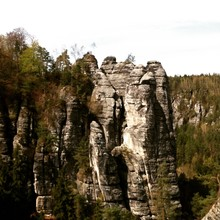 Scenic View Of Sedimentary Rock Cliffs