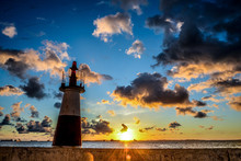 Low Angle View Of Lighthouse A...