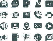Contact Icon Set And Contact G...