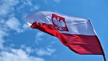Polish Flag Waving In The Wind...