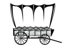 Wild West Covered Wagon Black ...
