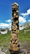 Totem Pole On Hill
