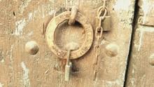 Close-up Of Old Rusty Doorknob