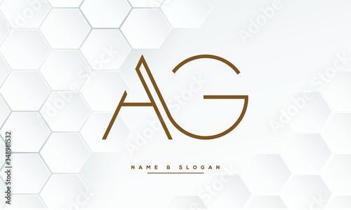 Photo AG ,GA ,A ,G  letters abstract logo monogram
