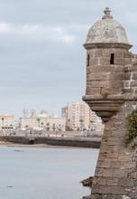 Sentry Box Of The Castle Of San Sebastian In Cadiz