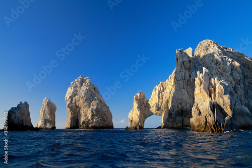 The Arch and surrounding rock formations at Lands End in Cabo San Lucas, Mexico Wallpaper Mural