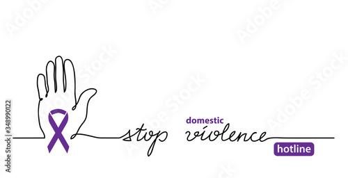 Fotomural Stop domestic violence hotline