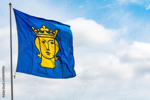 Obraz na plátně Flagge Stockholm Krone