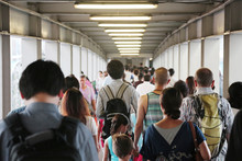 Unidentified Crowded Asian People Walking Through The PathUnidentified Crowwed Asian People Walking Through The Path